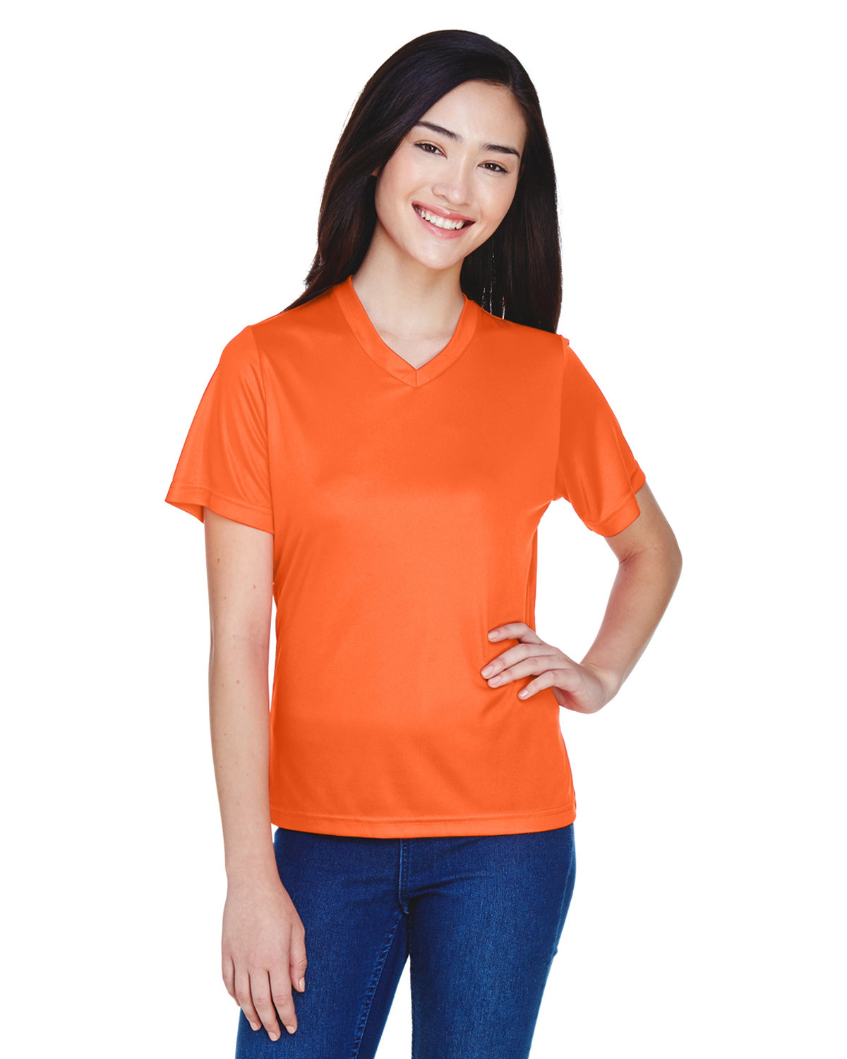 Team 365 Ladies' Zone Performance T-Shirt SPORT ORANGE