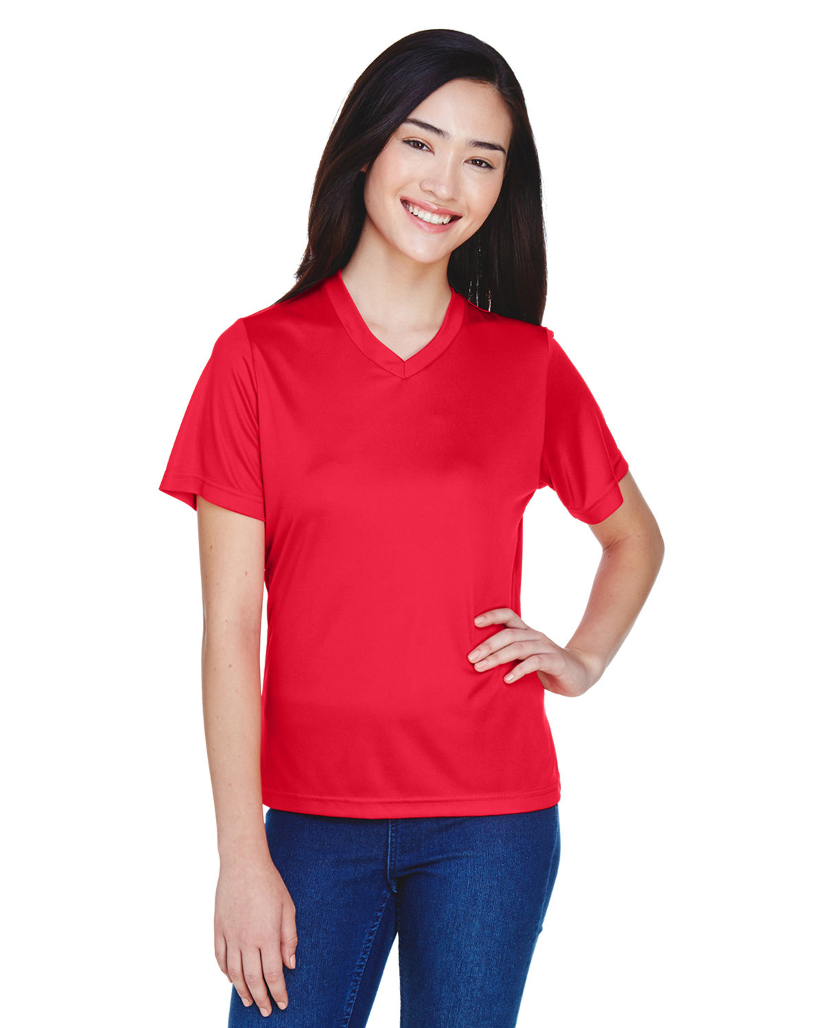 Team 365 Ladies' Zone Performance T-Shirt SPORT RED
