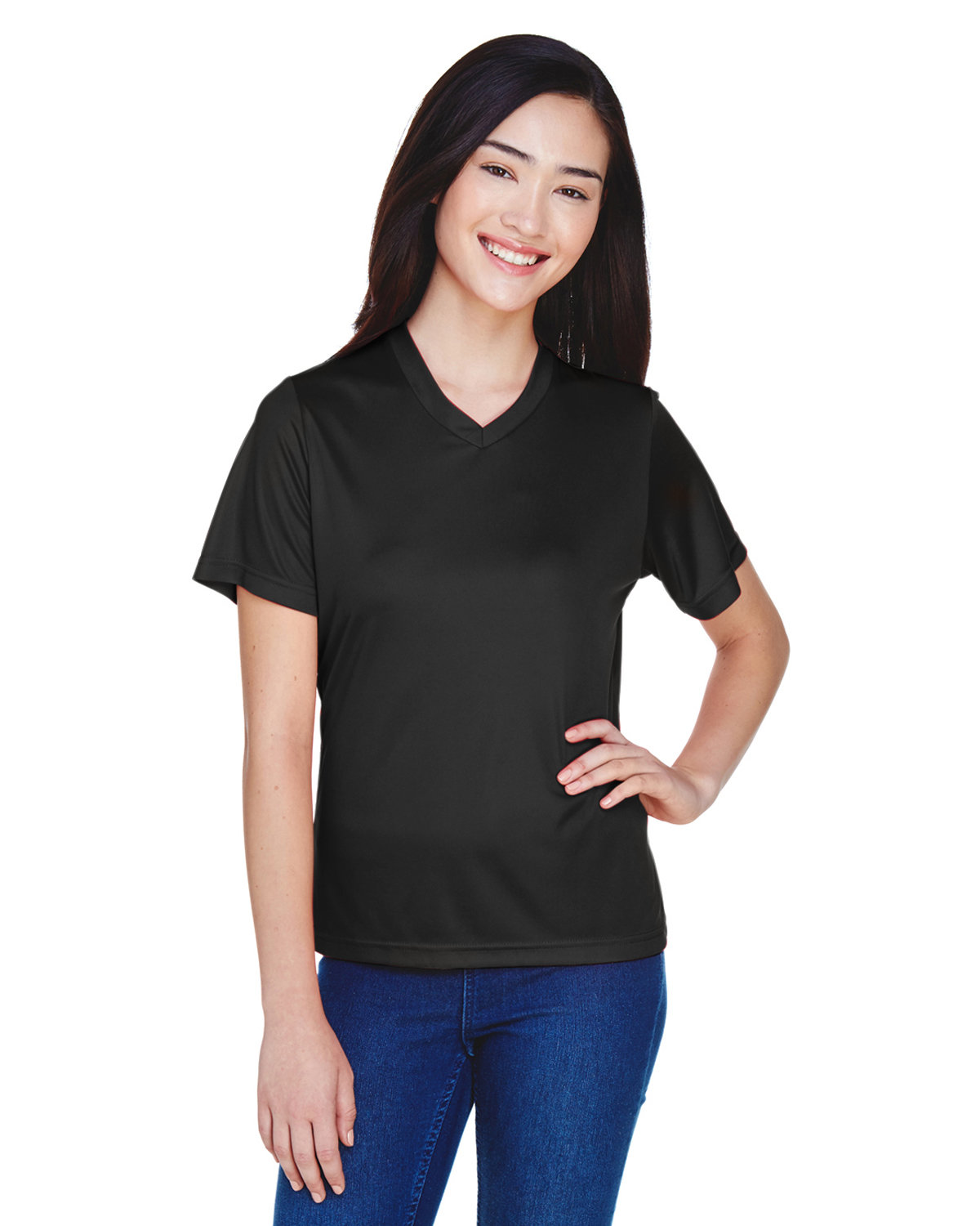 Team 365 Ladies' Zone Performance T-Shirt BLACK