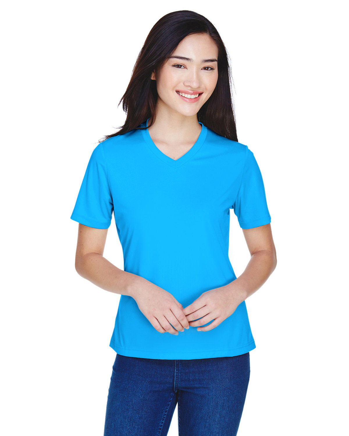 Team 365 Ladies' Zone Performance T-Shirt ELECTRIC BLUE