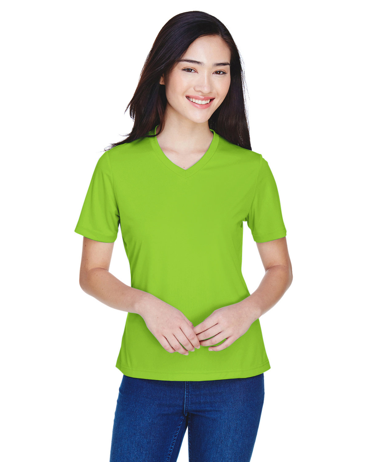 Team 365 Ladies' Zone Performance T-Shirt ACID GREEN