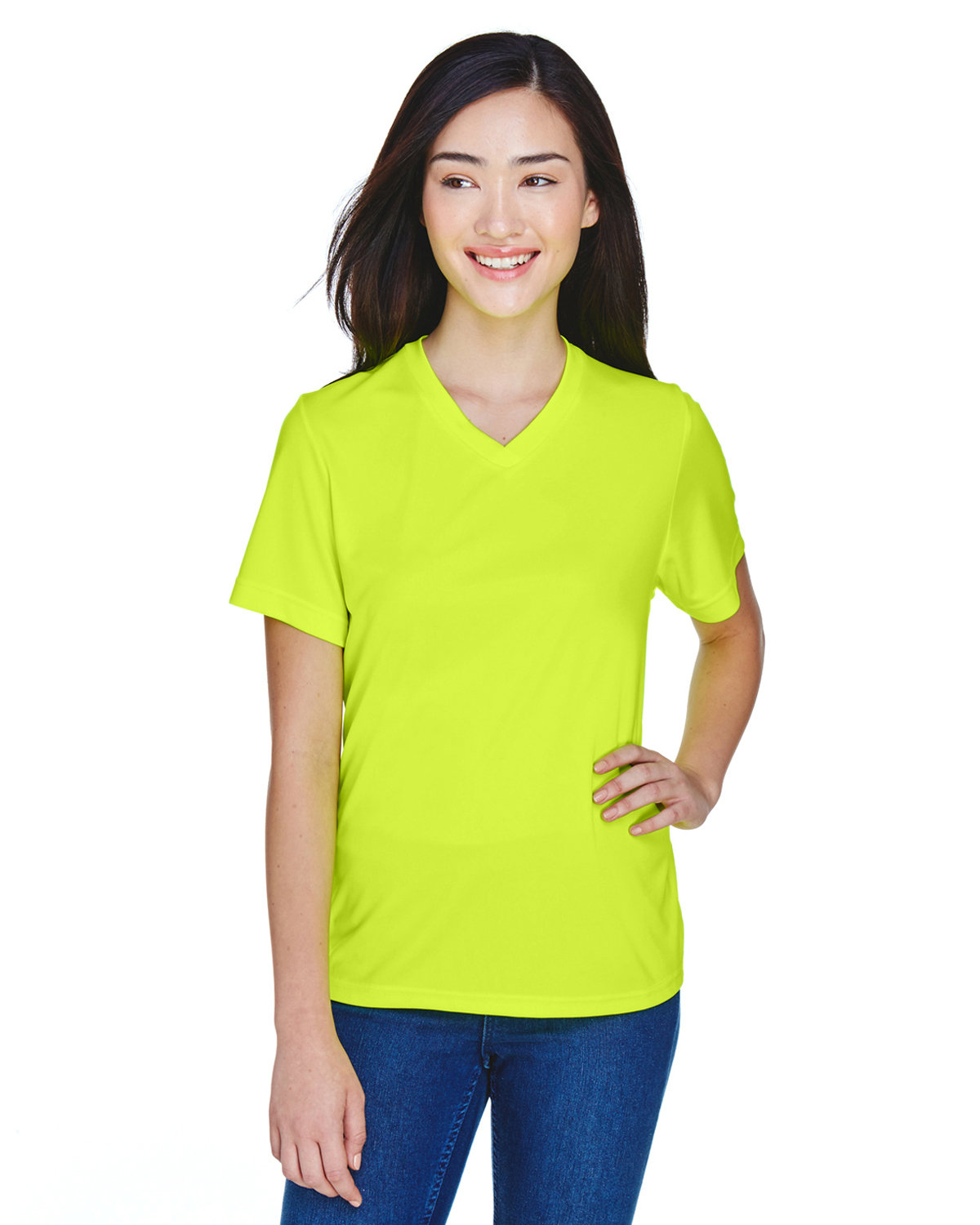 Team 365 Ladies' Zone Performance T-Shirt SAFETY YELLOW