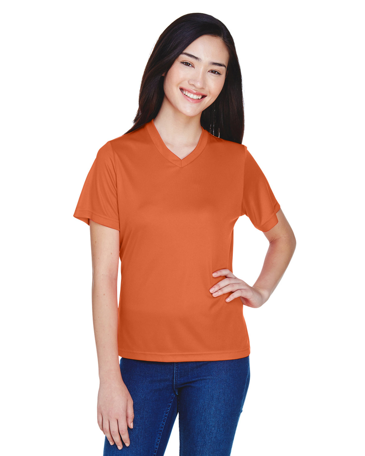 Team 365 Ladies' Zone Performance T-Shirt SPRT BRNT ORANGE
