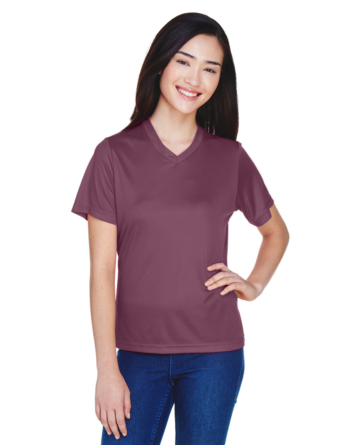 Team 365 Ladies' Zone Performance T-Shirt SPORT DRK MAROON