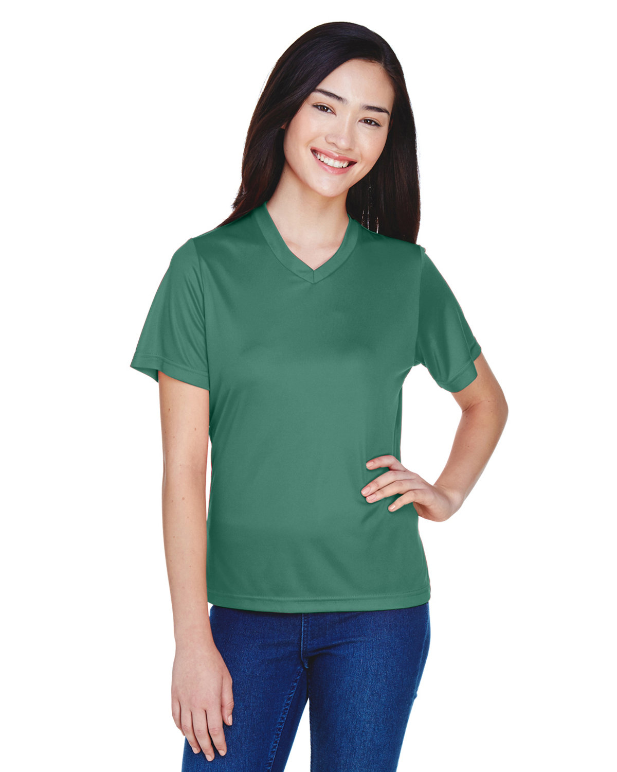 Team 365 Ladies' Zone Performance T-Shirt SPORT DARK GREEN