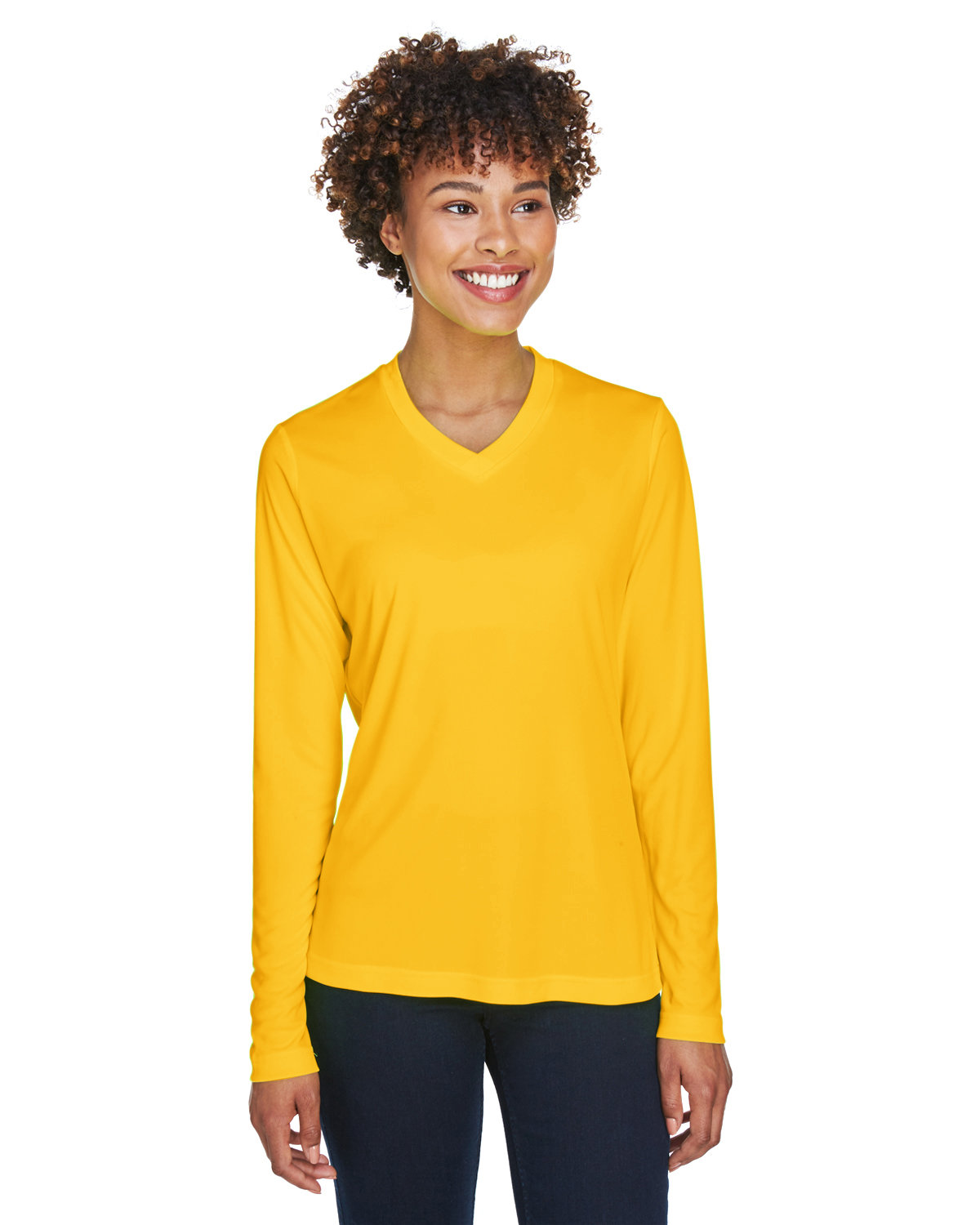 Team 365 Ladies' Zone Performance Long-Sleeve T-Shirt SP ATHLETIC GOLD