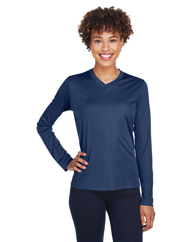 Team 365 Ladies' Zone Performance Long-Sleeve T-Shirt SPORT DARK NAVY