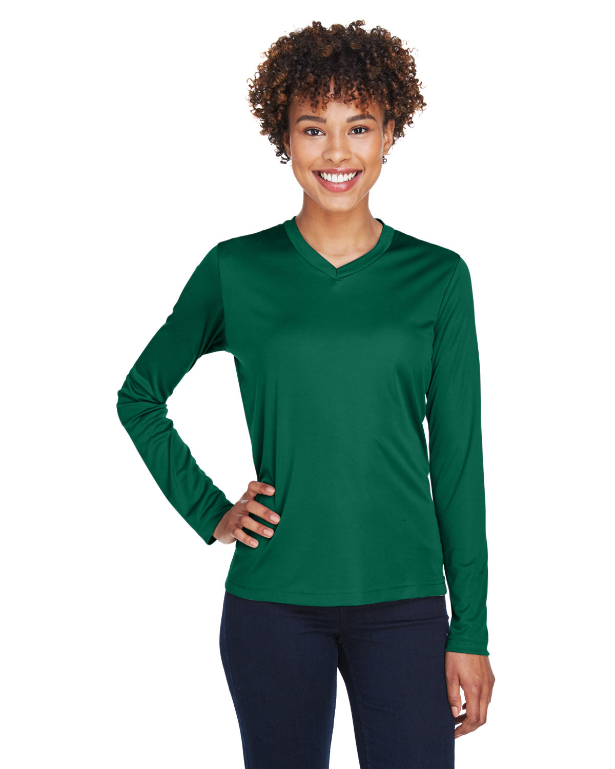 Team 365 Ladies' Zone Performance Long-Sleeve T-Shirt SPORT FOREST