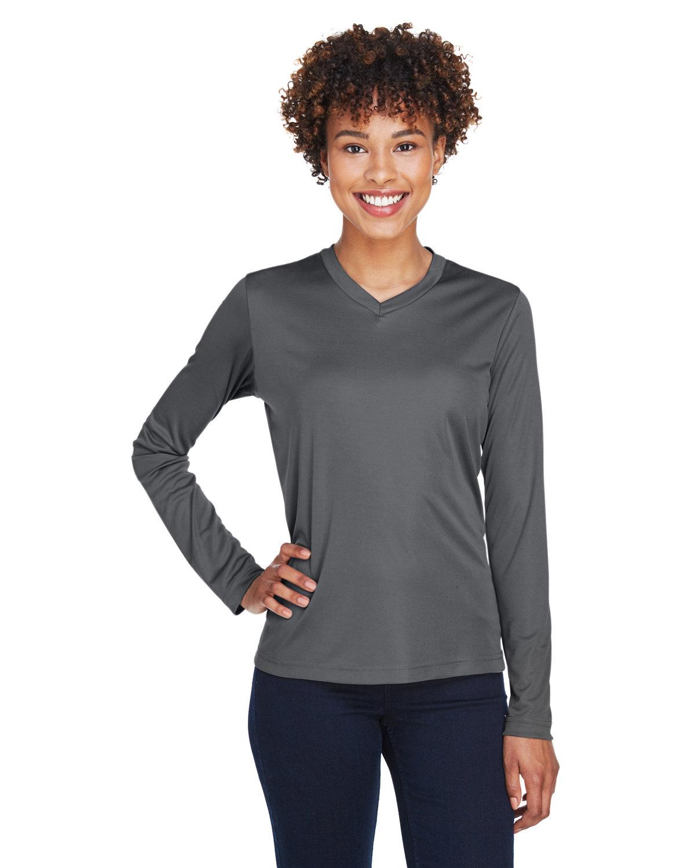 Team 365 Ladies' Zone Performance Long-Sleeve T-Shirt SPORT GRAPHITE