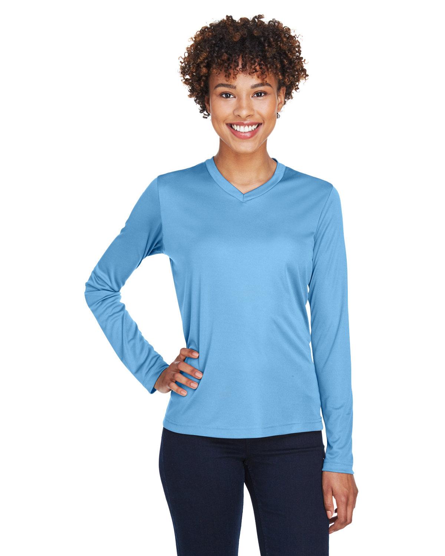 Team 365 Ladies' Zone Performance Long-Sleeve T-Shirt SPORT LIGHT BLUE