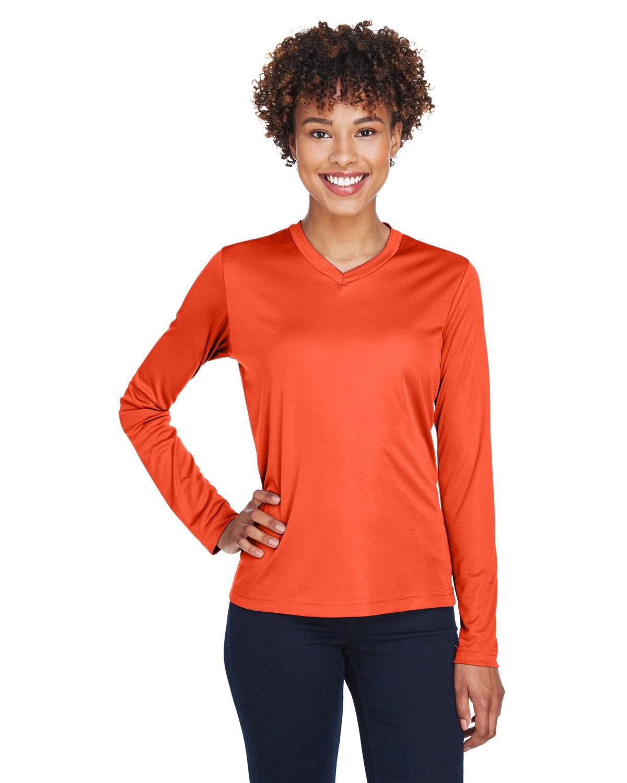 Team 365 Ladies' Zone Performance Long-Sleeve T-Shirt SPORT ORANGE