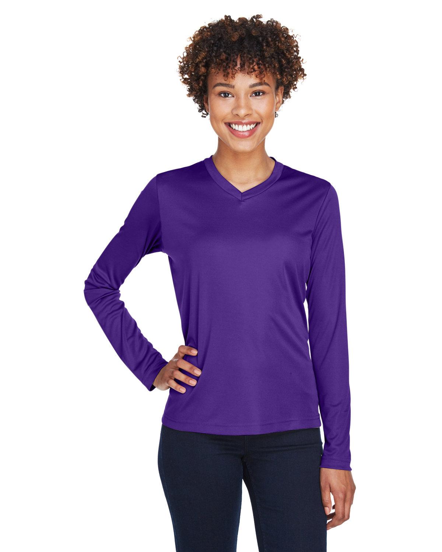 Team 365 Ladies' Zone Performance Long-Sleeve T-Shirt SPORT PURPLE