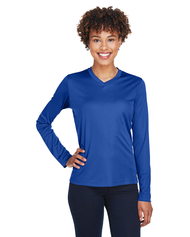 Team 365 Ladies' Zone Performance Long-Sleeve T-Shirt SPORT ROYAL