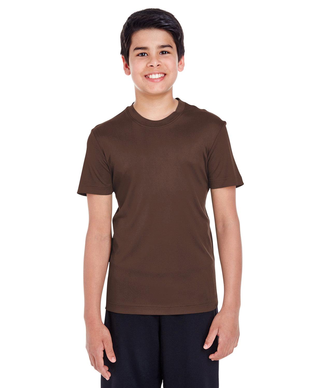 Team 365 Youth Zone Performance T-Shirt SPORT DARK BROWN
