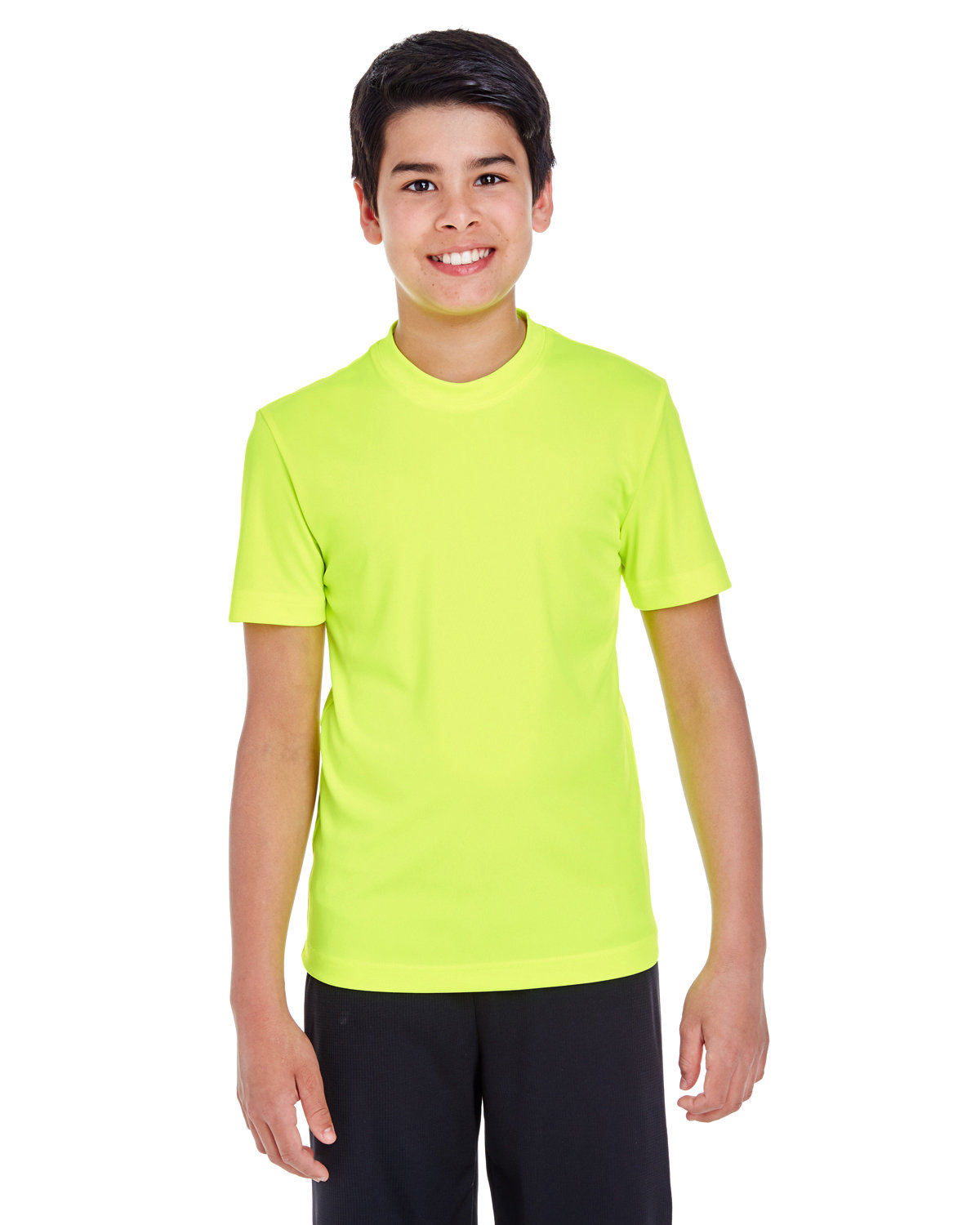 Team 365 Youth Zone Performance T-Shirt SAFETY YELLOW