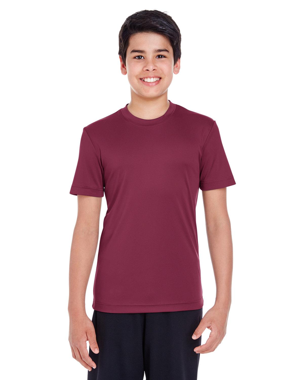 Team 365 Youth Zone Performance T-Shirt SPORT DRK MAROON