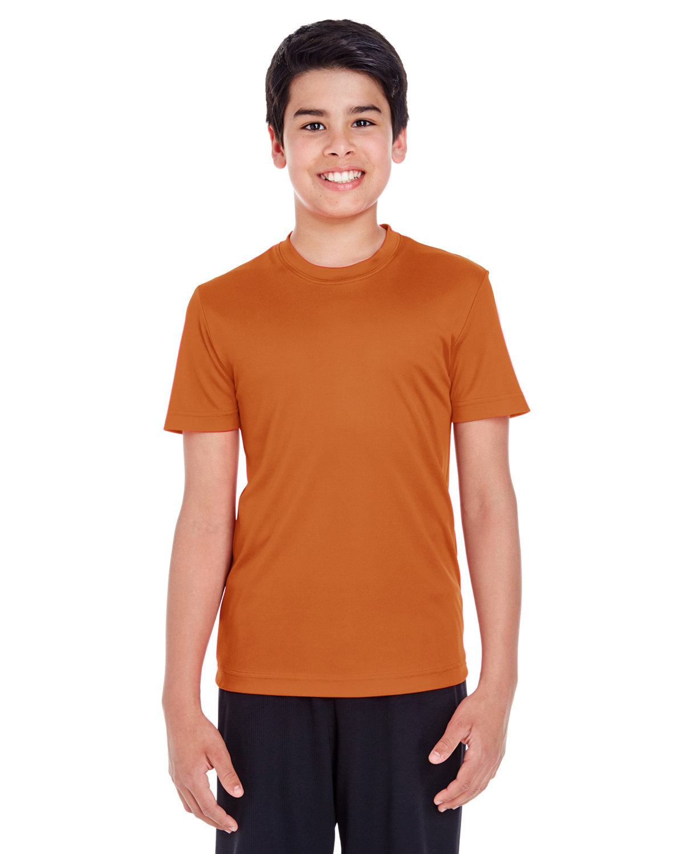 Team 365 Youth Zone Performance T-Shirt SPRT BRNT ORANGE