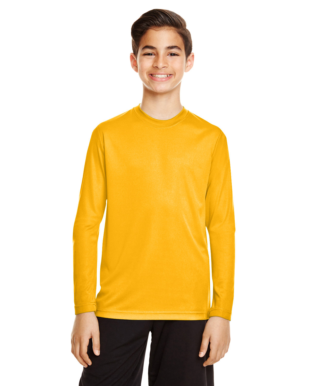 Team 365 Youth Zone Performance Long-Sleeve T-Shirt SP ATHLETIC GOLD
