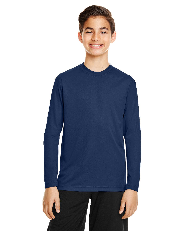 Team 365 Youth Zone Performance Long-Sleeve T-Shirt SPORT DARK NAVY
