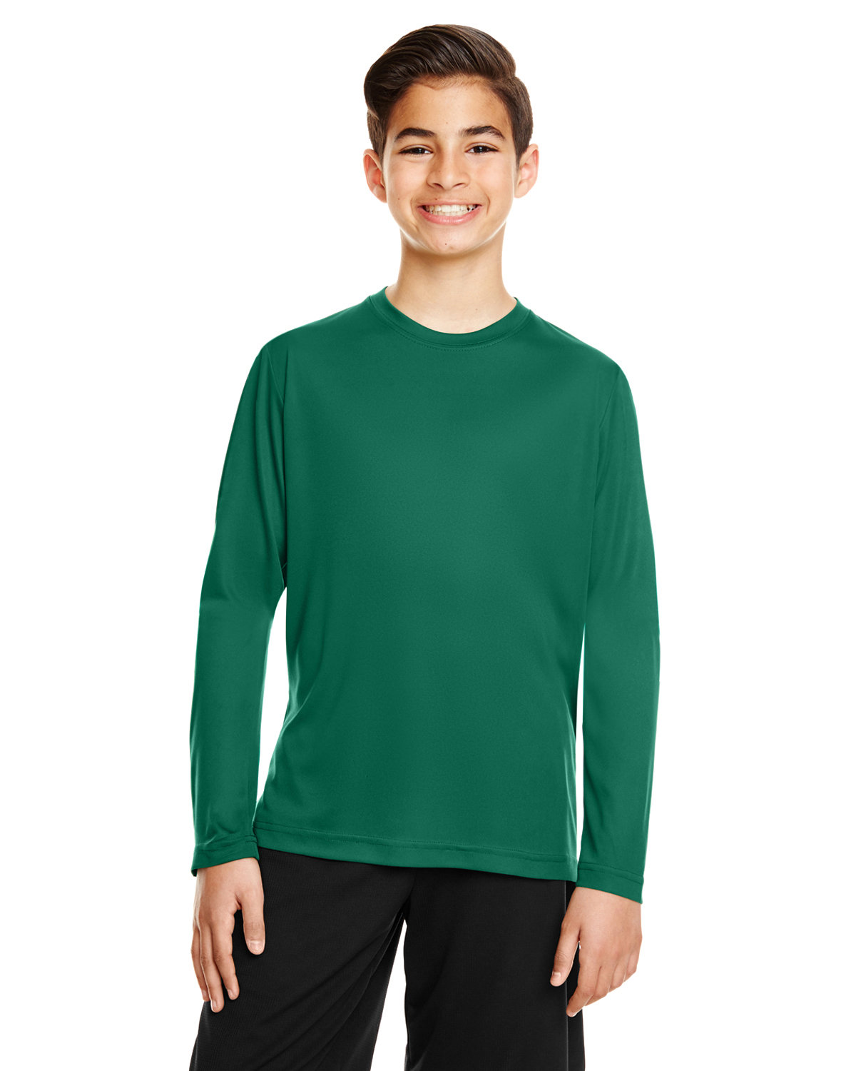 Team 365 Youth Zone Performance Long-Sleeve T-Shirt SPORT FOREST