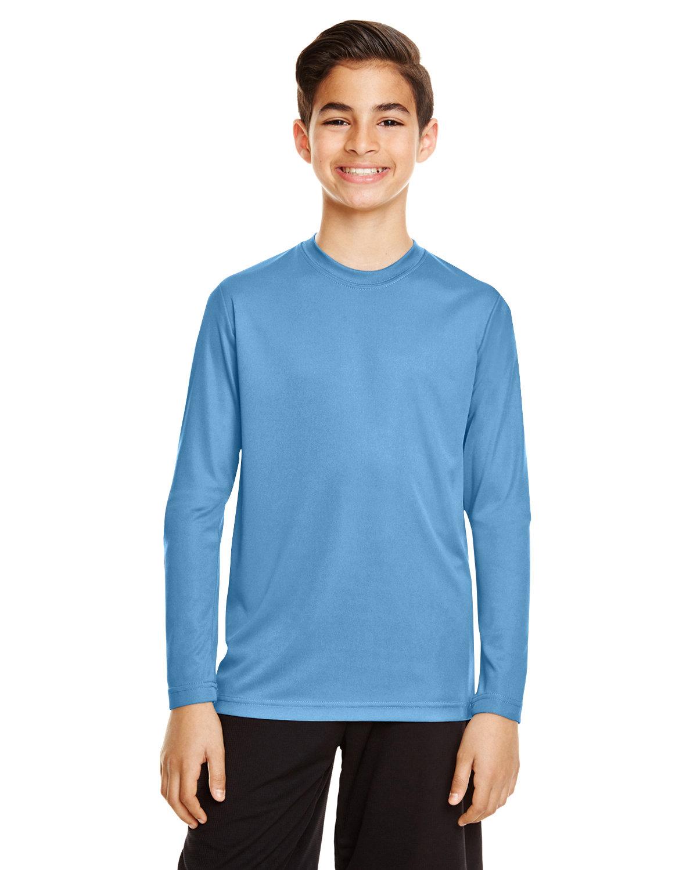 Team 365 Youth Zone Performance Long-Sleeve T-Shirt SPORT LIGHT BLUE