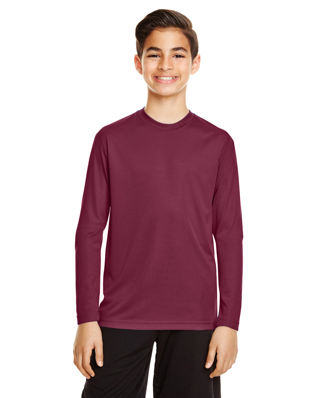 Team 365 Youth Zone Performance Long-Sleeve T-Shirt SPORT MAROON