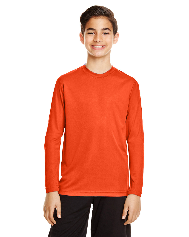 Team 365 Youth Zone Performance Long-Sleeve T-Shirt SPORT ORANGE