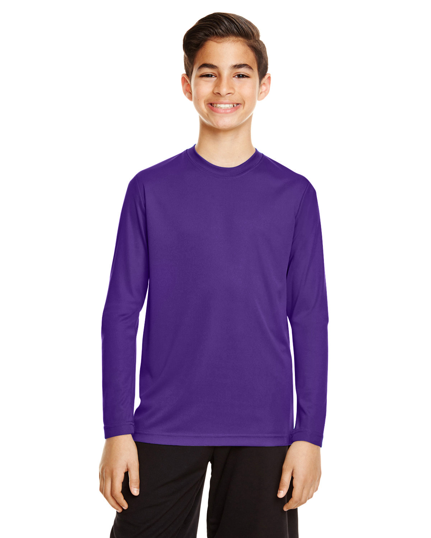 Team 365 Youth Zone Performance Long-Sleeve T-Shirt SPORT PURPLE