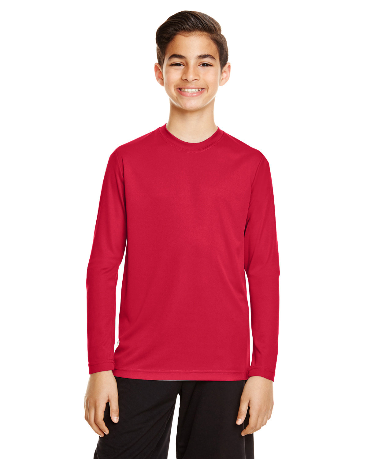 Team 365 Youth Zone Performance Long-Sleeve T-Shirt SPORT RED