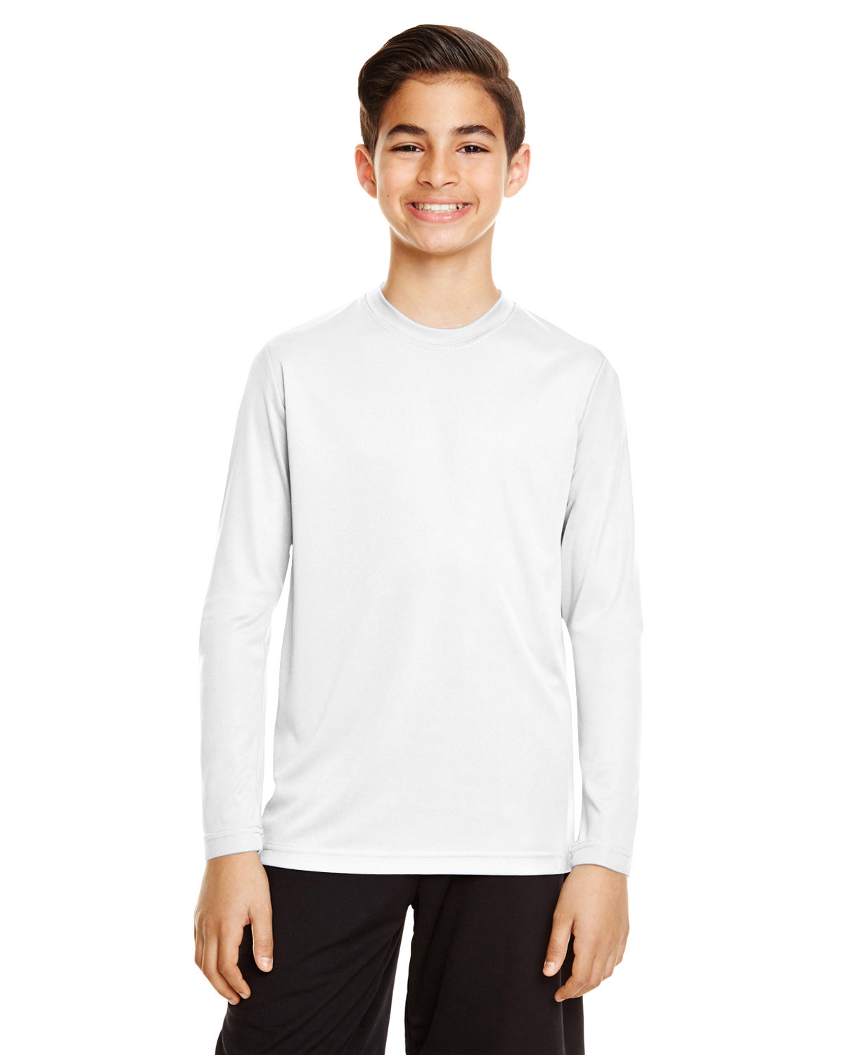 Team 365 Youth Zone Performance Long-Sleeve T-Shirt WHITE