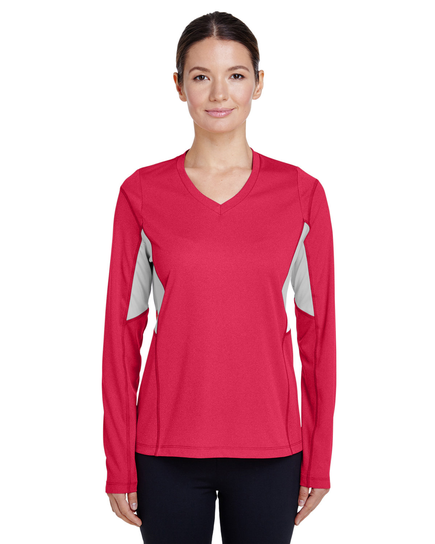 Team 365 Ladies' Excel Performance Warm-Up SP RED HEATHER