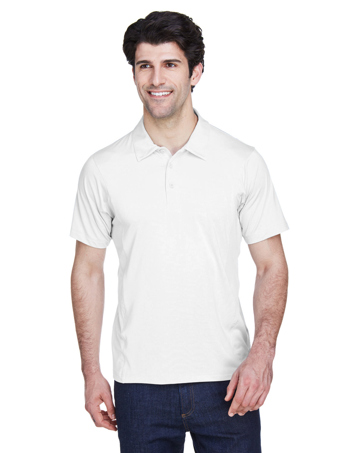 Team 365 Men's Charger Performance Polo WHITE