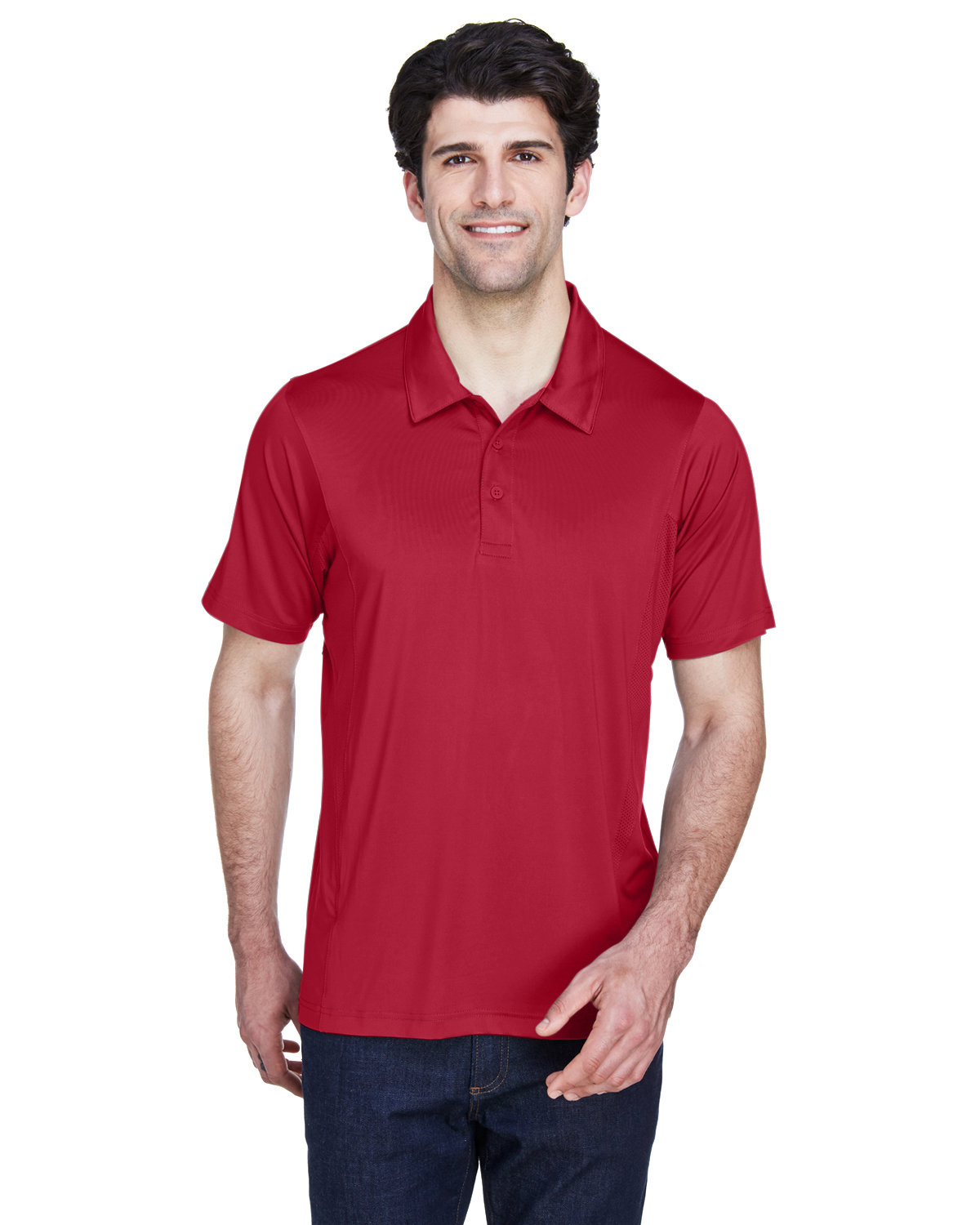 Team 365 Men's Charger Performance Polo SP SCARLET RED