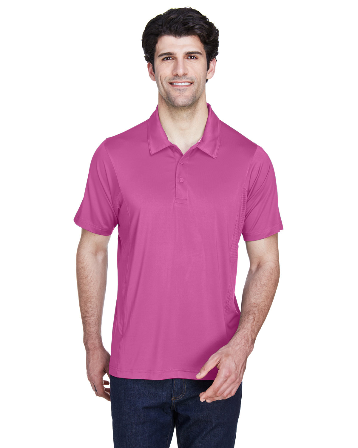 Team 365 Men's Charger Performance Polo SPORT CHRTY PINK