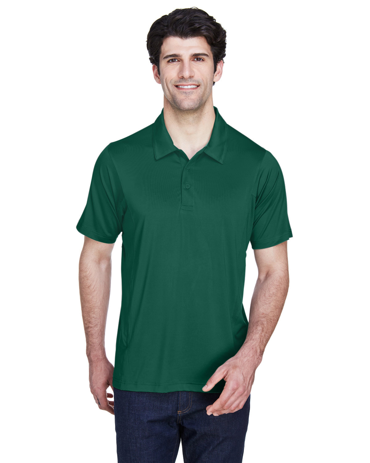 Team 365 Men's Charger Performance Polo SPORT FOREST