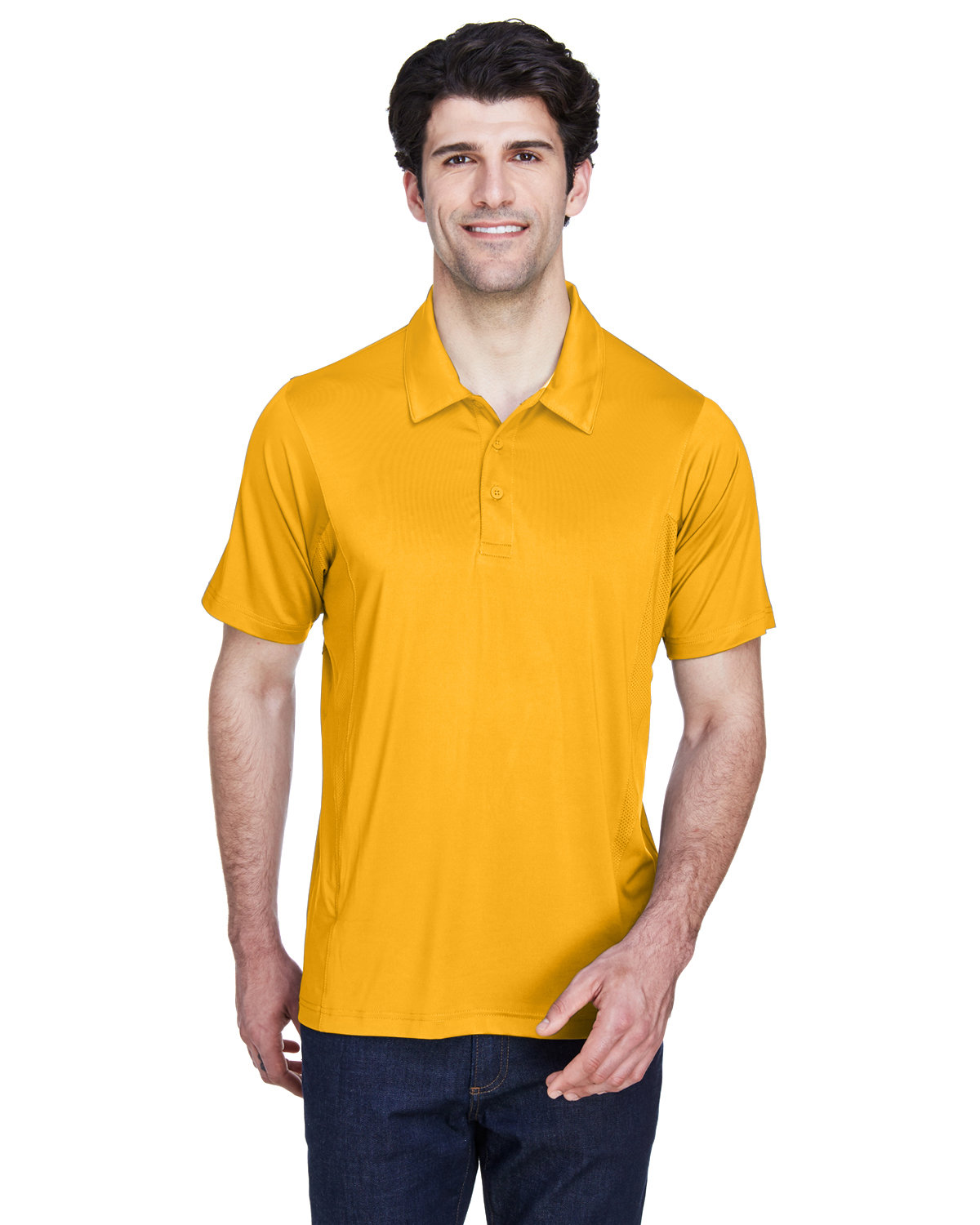 Team 365 Men's Charger Performance Polo SP ATHLETIC GOLD