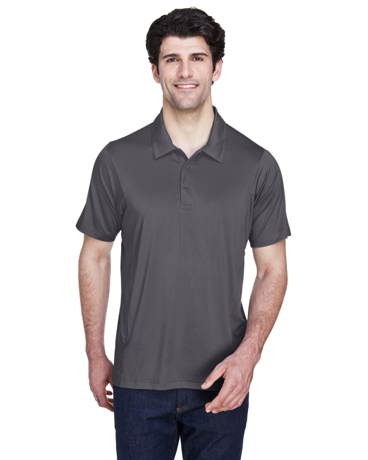 Team 365 Men's Charger Performance Polo SPORT GRAPHITE