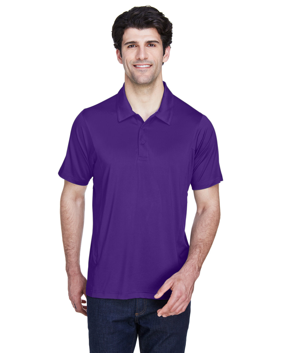 Team 365 Men's Charger Performance Polo SPORT PURPLE