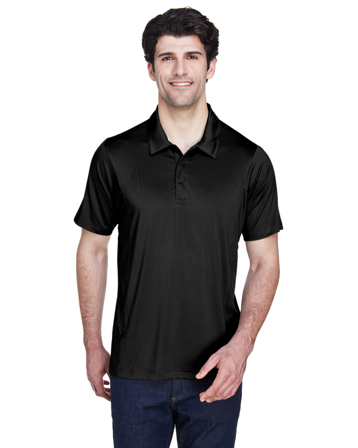 Team 365 Men's Charger Performance Polo BLACK