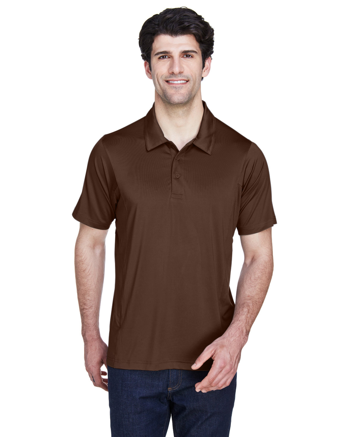 Team 365 Men's Charger Performance Polo SPORT DARK BROWN