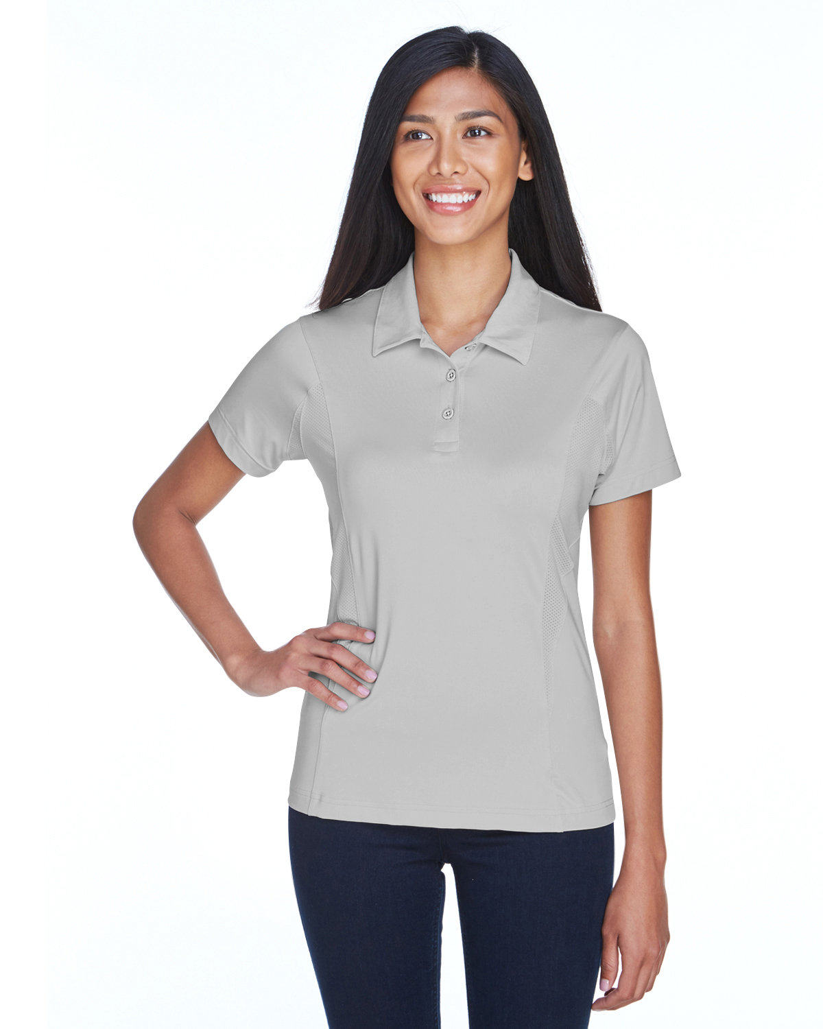Team 365 Ladies' Charger Performance Polo SPORT SILVER