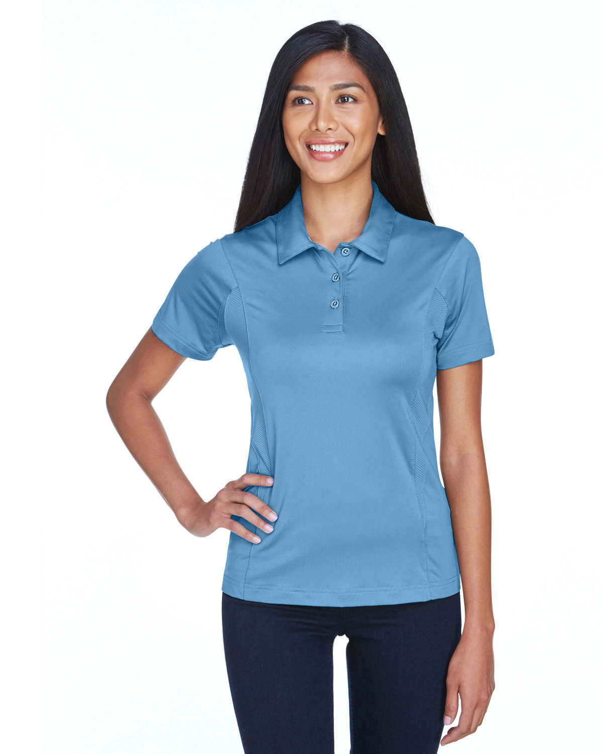 Team 365 Ladies' Charger Performance Polo SPORT LIGHT BLUE