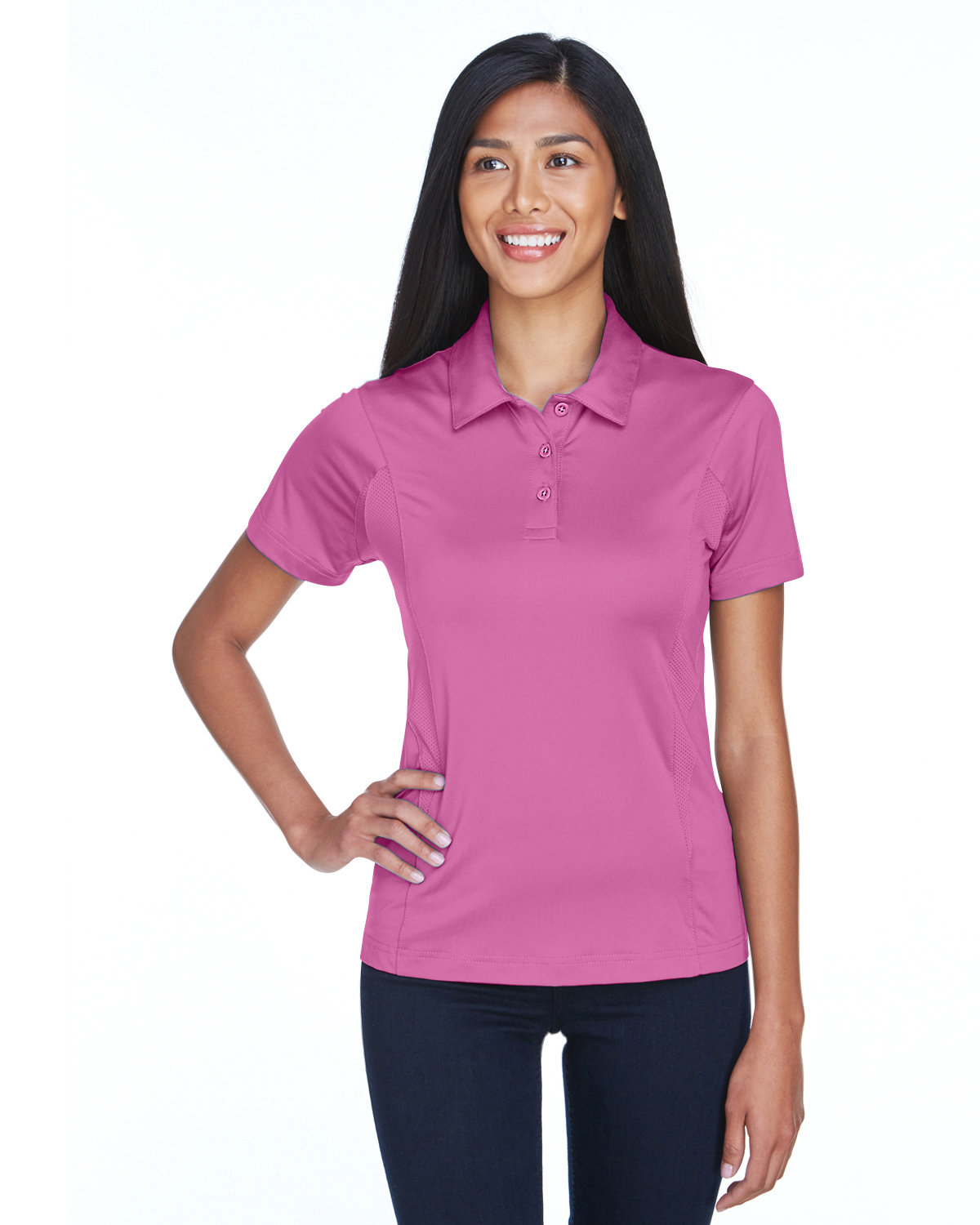 Team 365 Ladies' Charger Performance Polo SPORT CHRTY PINK