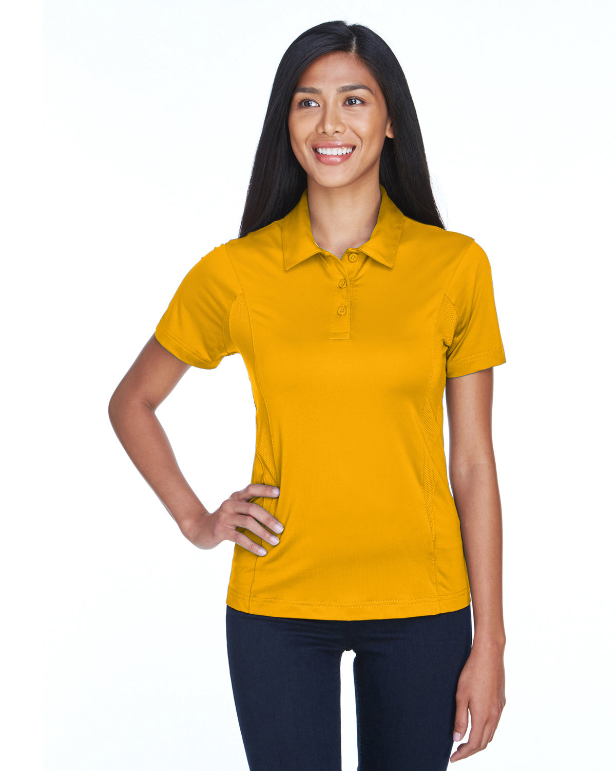 Team 365 Ladies' Charger Performance Polo SP ATHLETIC GOLD