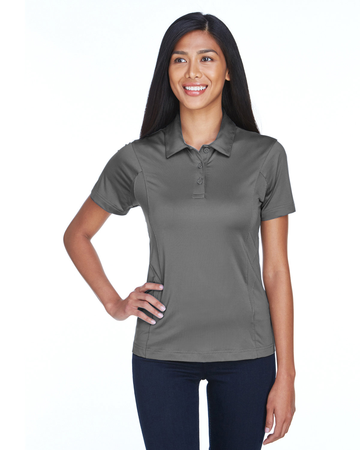 Team 365 Ladies' Charger Performance Polo SPORT GRAPHITE