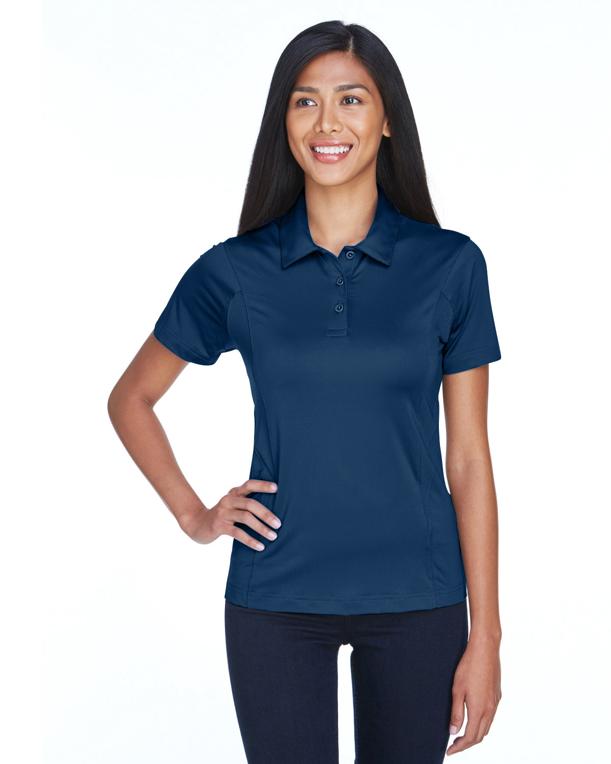 Team 365 Ladies' Charger Performance Polo SPORT DARK NAVY