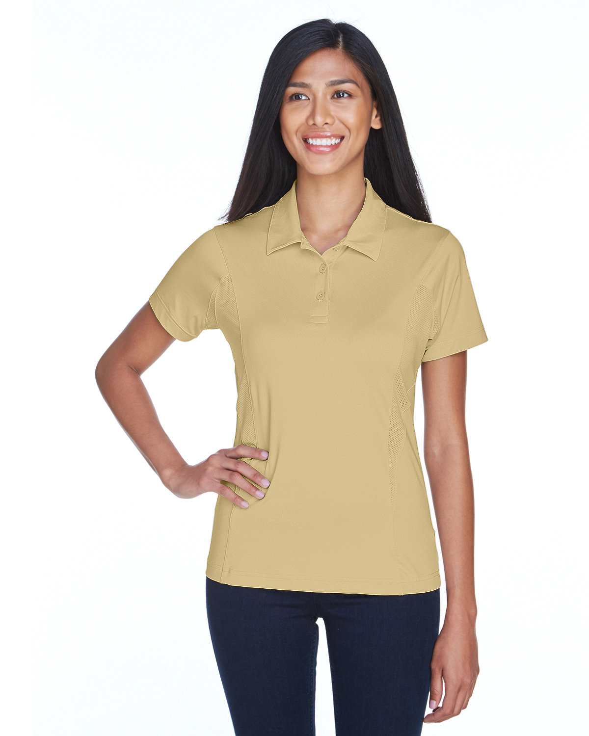 Team 365 Ladies' Charger Performance Polo SPORT VEGAS GOLD