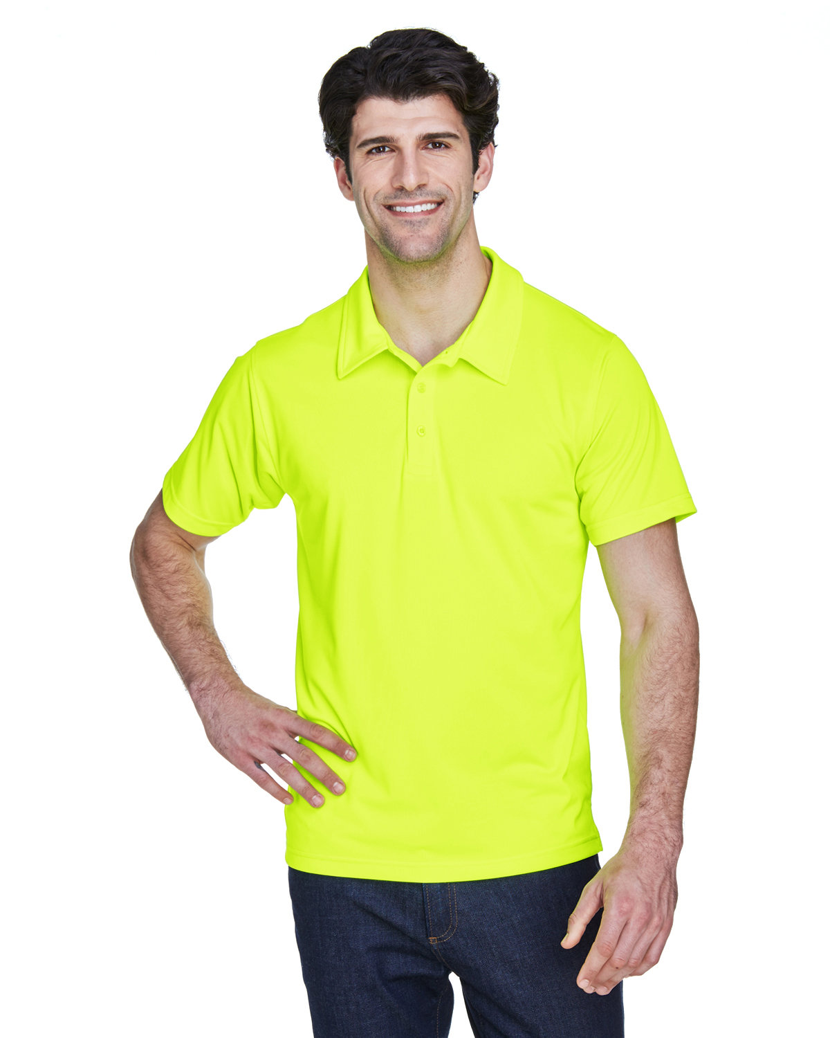 Team 365 Men's Command Snag Protection Polo SAFETY YELLOW