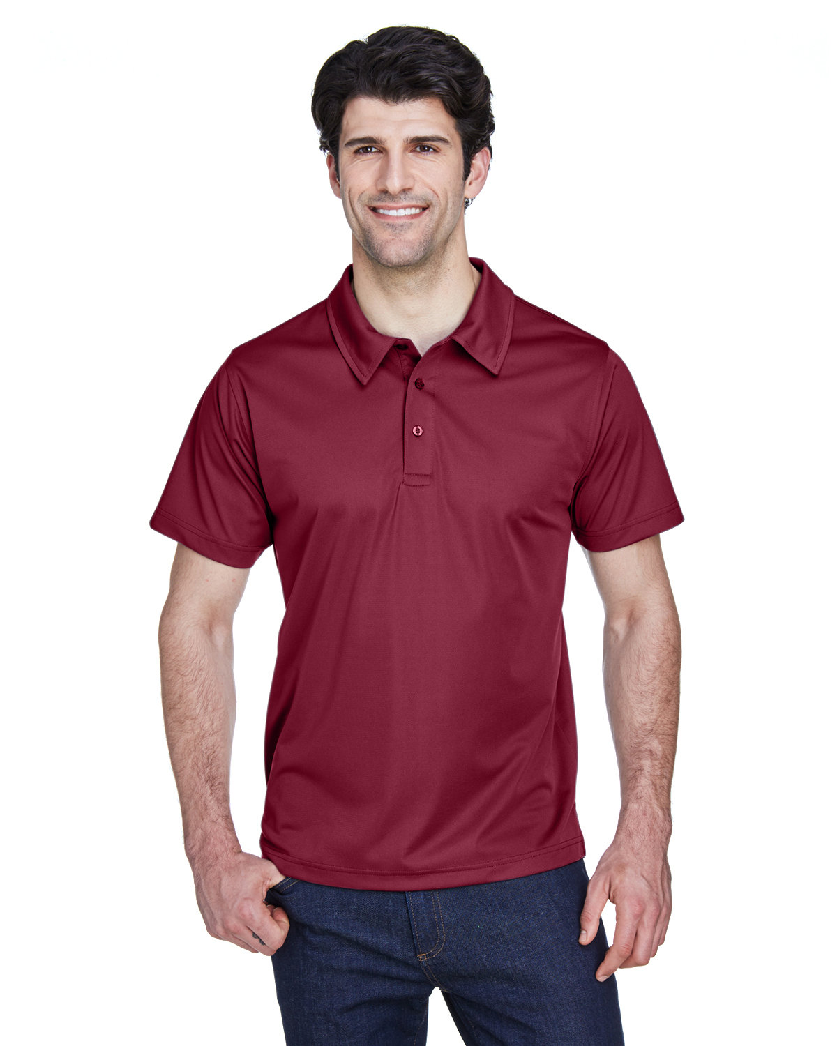 Team 365 Men's Command Snag Protection Polo SPORT MAROON