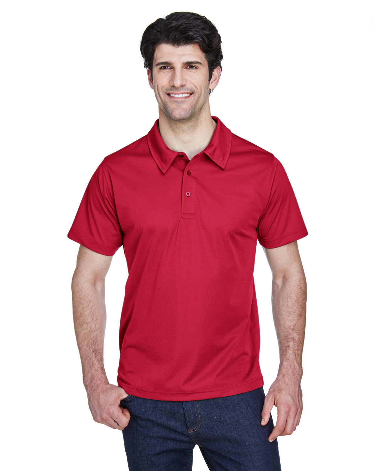 Team 365 Men's Command Snag Protection Polo SPRT SCARLET RED